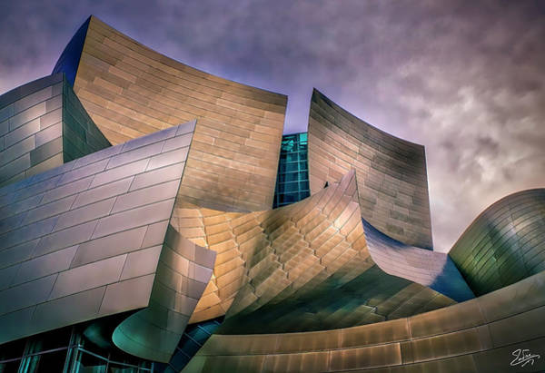 Photograph - Disney Concert Hall At Dusk by Endre Balogh
