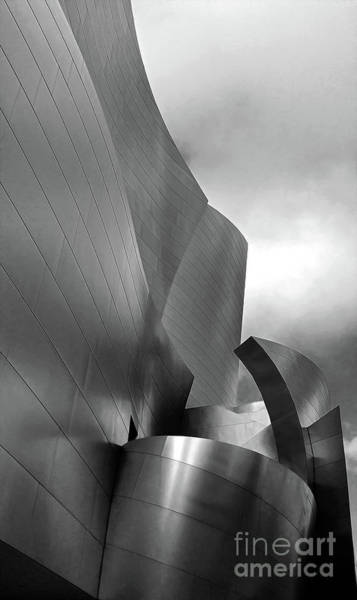 Photograph - Disney Concert Hall In Black And White by Gregory Dyer