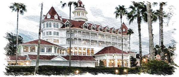 Wall Art - Photograph - Disney World The Grand Floridian Resort Pa by Thomas Woolworth