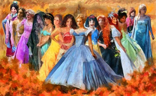 Digital Art - Disney's Princesses by Caito Junqueira