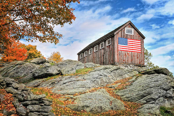 Roxbury Photograph - Display Of Colors - Roxbury Barn  by T-S Fine Art Landscape Photography
