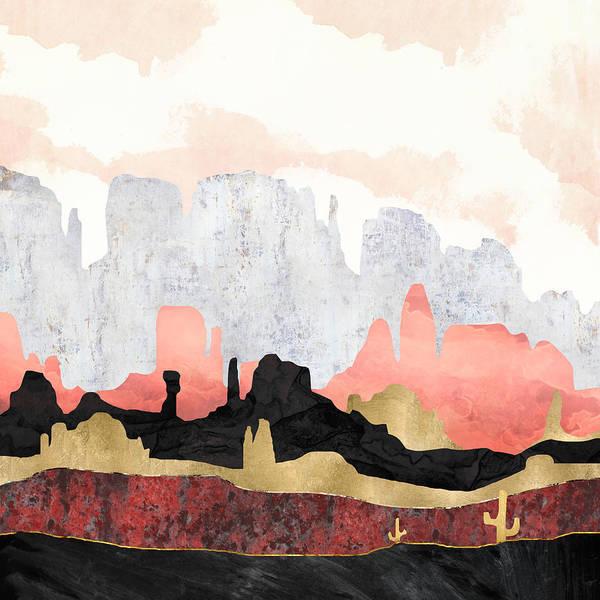 Wall Art - Digital Art - Distant Desert by Spacefrog Designs