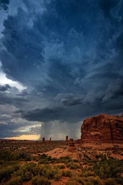 Photograph - Distant Desert Storm by Rick Berk