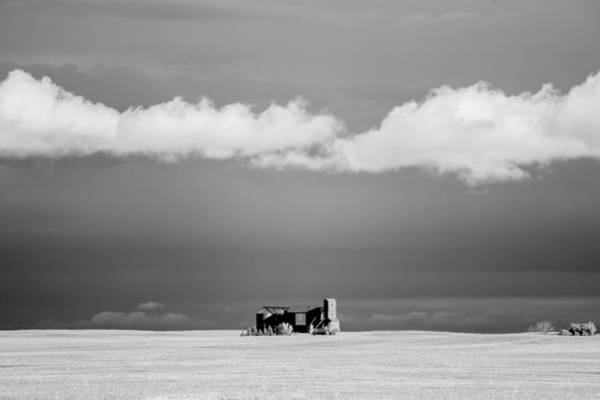 Expanse Photograph - Distant Grain Elevator by Todd Klassy