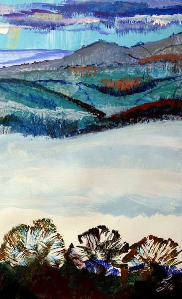 Painting - Distant Hills And Mist In The Lowlands Landscape by Mike Jory