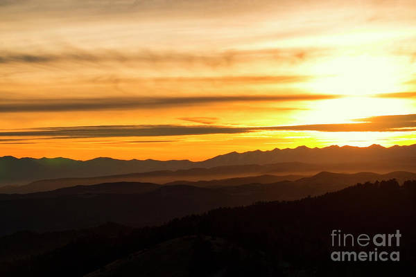 Photograph - Distant Sangre De Cristo Winter Sunset by Steve Krull