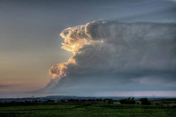 Photograph - Distant Thunderstorm by Dave Rennie