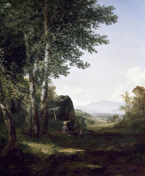 Distant Trees Wall Art - Painting - Distant View Of The Mansfield Mountain Vermont by John Frederick Kensett