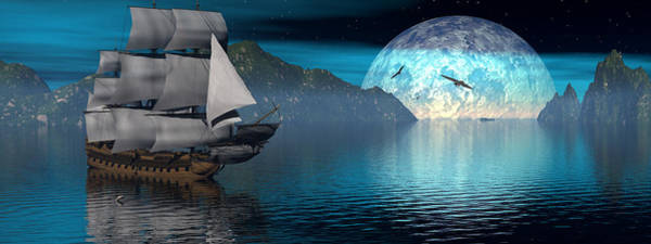 Scifi Digital Art - Distant Voyage 2 by Claude McCoy
