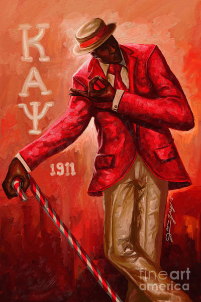 Smooth Digital Art - Distinguished Kappa Alpha Psi by The Art of DionJa'Y
