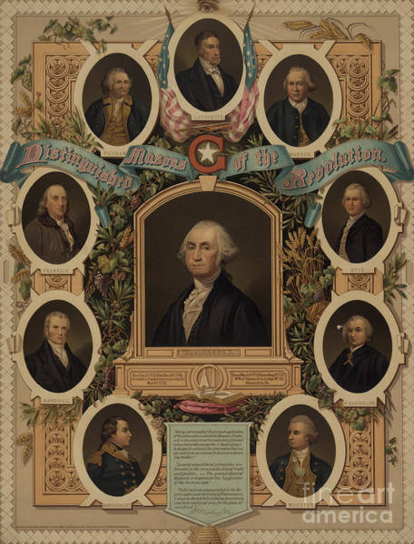 Wall Art - Painting - Distinguished Masons Of The Revolution by American School