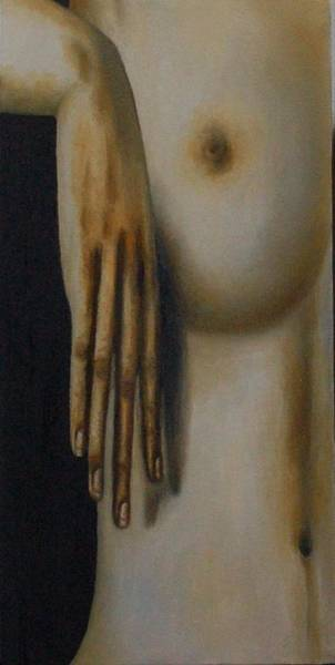 Painting - Distorted Hand Study by Leah Saulnier The Painting Maniac