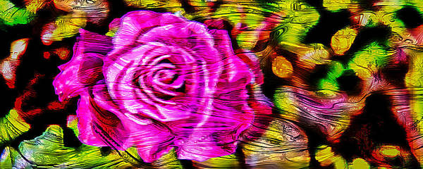 Floral Digital Art - Distorted Romance by Az Jackson