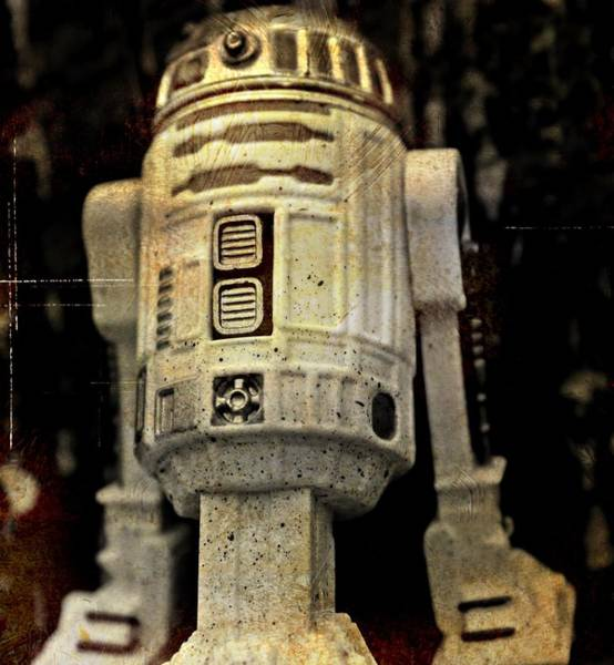 Galactic Empire Photograph - Distressed R2d2 by Modern Art