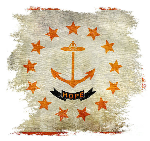 Wall Art - Photograph - Distressed Rhode Island Flag by Jon Neidert