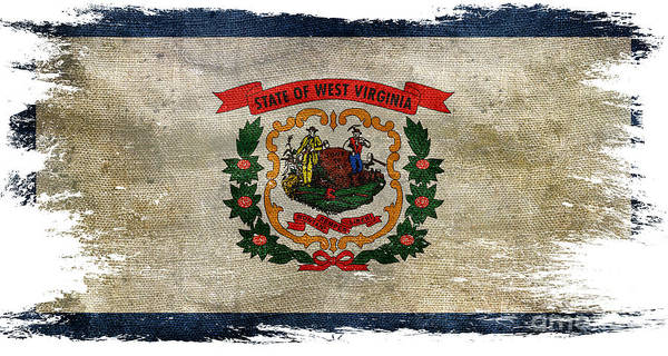 West Virginia Photograph - Distressed West Virginia Flag by Jon Neidert