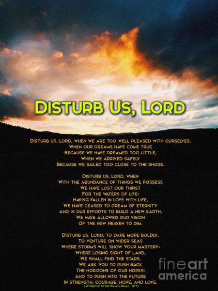 Unbroken Wall Art - Painting - Disturb Us Lord by Celestial Images