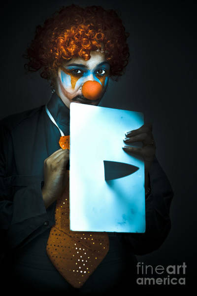 Wall Art - Photograph - Disturbed Clown With Knife by Jorgo Photography - Wall Art Gallery