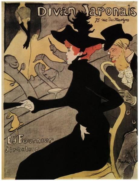 Art Nouveau Mixed Media - Divan Japonais - Vintage Advertising Poster by Studio Grafiikka