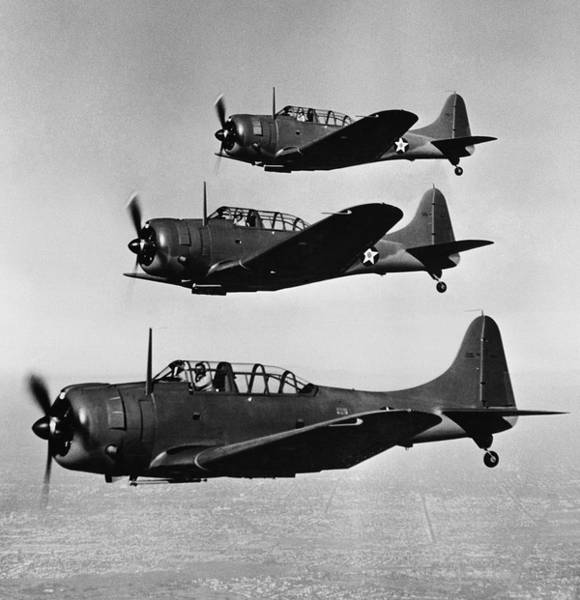 Army Air Corps Photograph - Dive Bombers  1942 by Daniel Hagerman