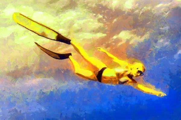 Digital Art - Diver by Caito Junqueira