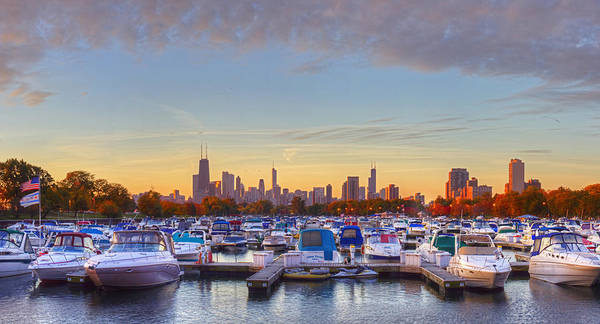 Two Harbors Photograph - Diversey Harbor by Twenty Two North Photography