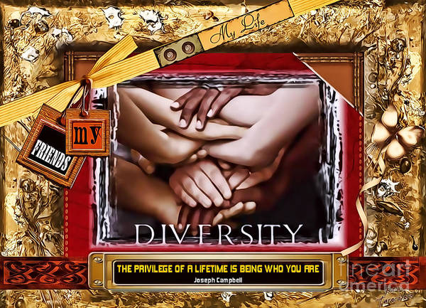 Digital Art - Diversity by Kathy Tarochione