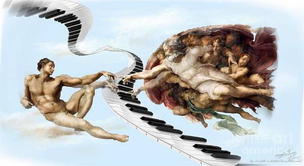 Xxx Painting - Divin Song.music Was Born With The Life by Lucian Ioan DOBARTA LuciDO