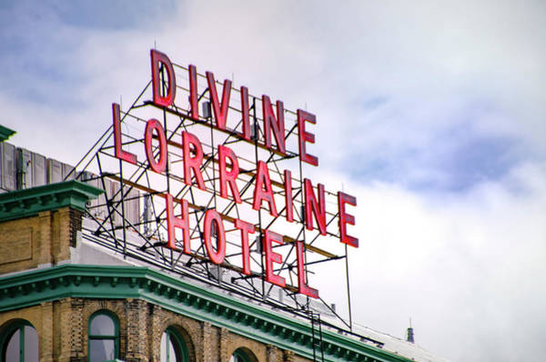 Photograph - Divine Lorraine Marquee - Broad Street by Bill Cannon