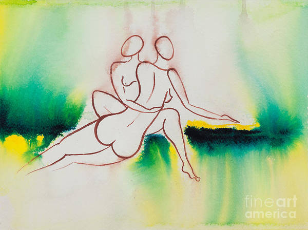 Lgbt Painting - Divine Love Series No. 2090 by Ilisa Millermoon