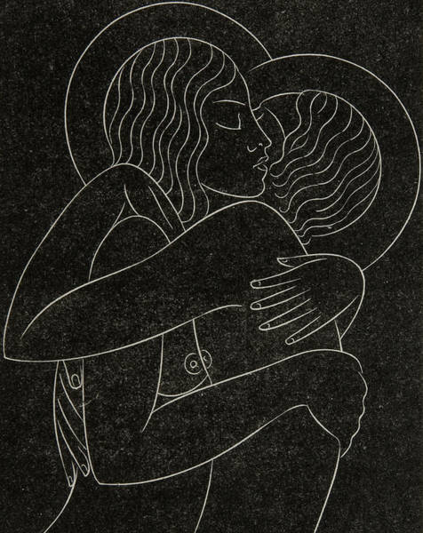 Bare Drawing - Divine Lovers by Eric Gill