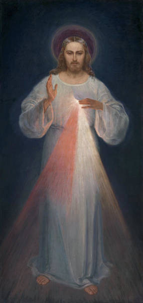 Wall Art - Painting - Divine Mercy by Eugene Kazimierowski