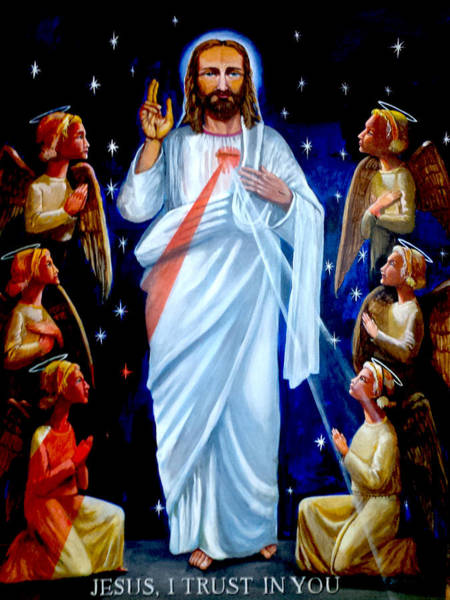 Endless Love Painting - Divine Mercy by John Genuard