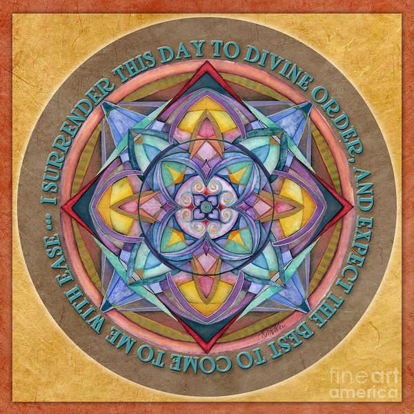 Painting - Divine Order Mandala Prayer by Jo Thomas Blaine