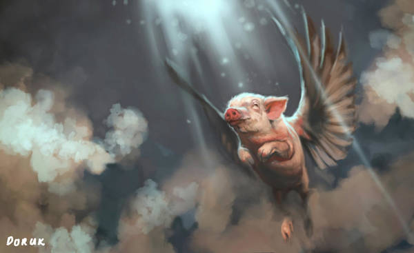 Comission Painting - Divine Swine by Doruk Golcu
