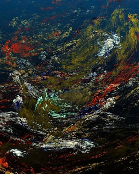 Reef Diving Digital Art - Diving The Reef Series - Sea Floor Abstract by David Lane