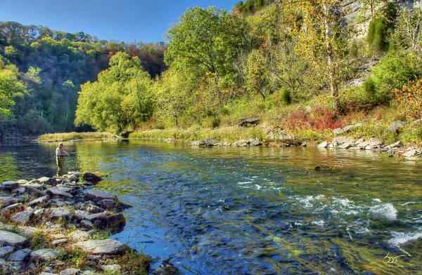 Photograph - Dix River Fishing The Rapids by Sam Davis Johnson