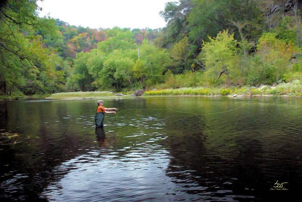 Photograph - Dix River Fly Fishing by Sam Davis Johnson