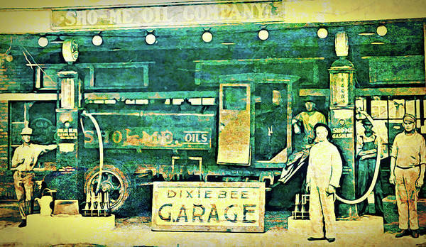 Digital Art - Dixie Bee Garage 1920 by David King