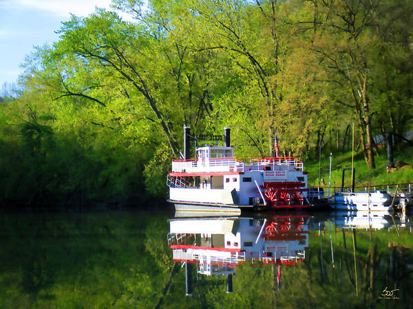 Photograph - Dixie Belle River Boat by Sam Davis Johnson