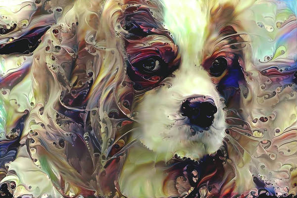 Mixed Media - Dixie The King Charles Spaniel by Peggy Collins