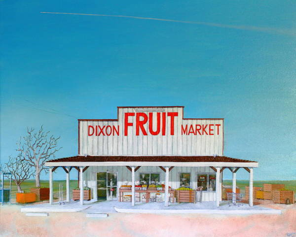 Painting - Dixon Fruit Market 1992 by Wingsdomain Art and Photography
