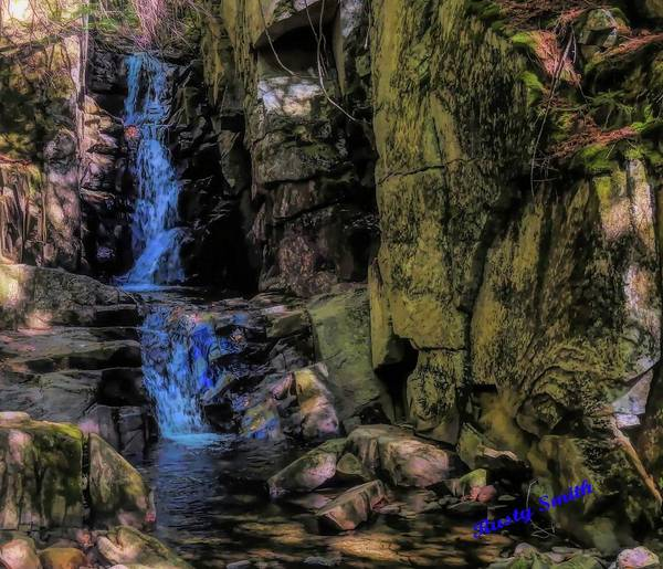 Digital Art - Dixville Notch Flume Brook by Rusty R Smith