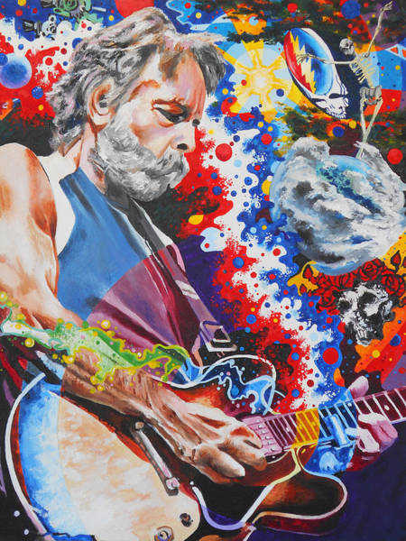 Deadhead Wall Art - Painting - Dizzy With Eternity by Kevin J Cooper Artwork