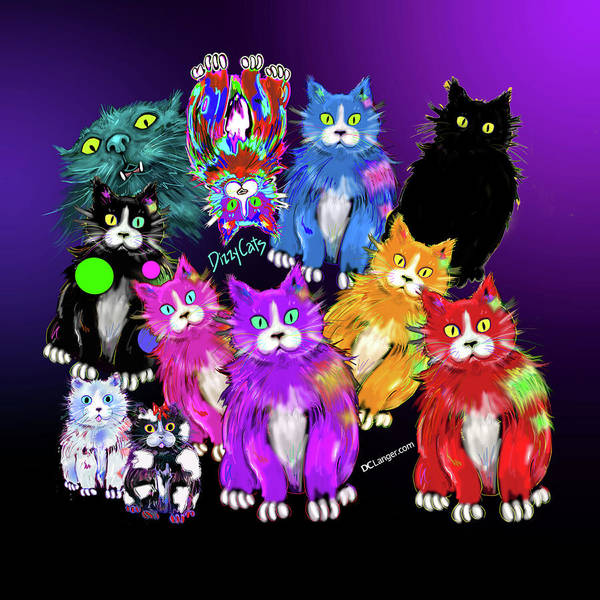 Painting - Dizzycats by DC Langer
