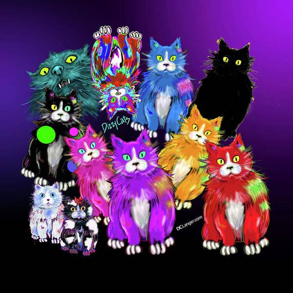 Dizzycats Art Print