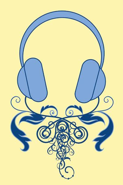 Broadcaster Wall Art - Photograph - Dj Music Headphones Ornamental Abstract Vector Art by Andy Gimino