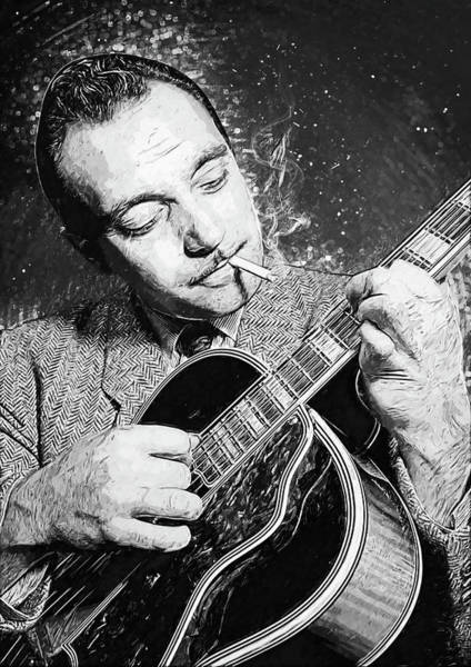 Wall Art - Digital Art - Django Reinhardt by Zapista Zapista