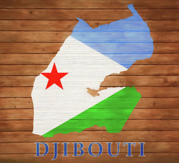 Traveler Mixed Media - Djibouti Rustic Map On Wood by Dan Sproul
