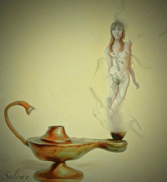 Genie Painting - Djinni by Salome Hooper